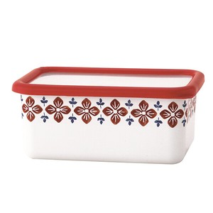 Fuji Enamel Deep Storage Container Red