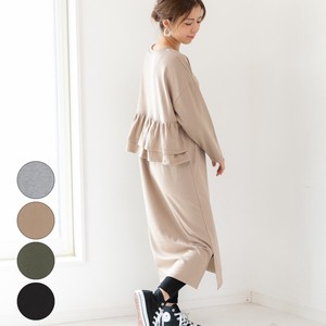 [2019NewItem] Fleece Bag Frill One-piece Dress mitis