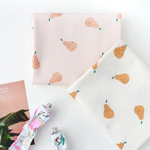 Fabric Cotton Fruit Basket pear Design Fabric