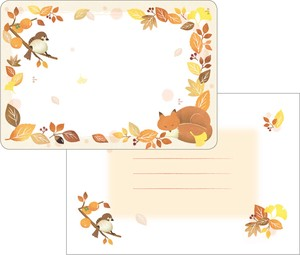 Mini letter Set Autumn Biyori Eraser Penchant