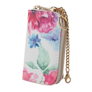 Watercolor flower Key Case Broom Ladies