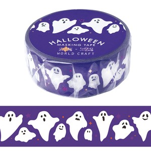 Washi Tape Ghost Halloween Wrapping