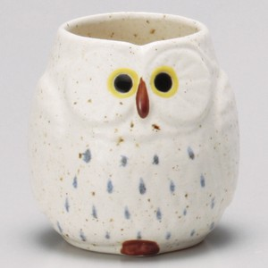 Owl Japanese Tea Cup Full Water