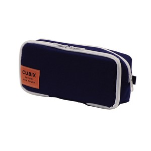Pencil Case Round Box colored Navy