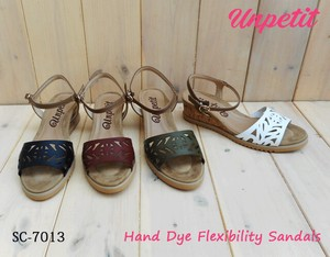 Dyeing Laser Cut Wedged Sandal Soft Cushion SC
