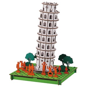 Line Leaning Tower Of Pisa Cardboard Box Craft Kit