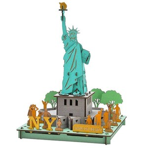 Line Statue Of Liberty Cardboard Box Craft Kit