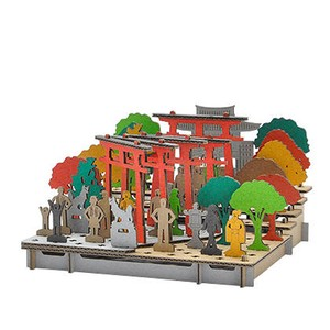 Line Inari Shrine Shrine Cardboard Box Craft Kit