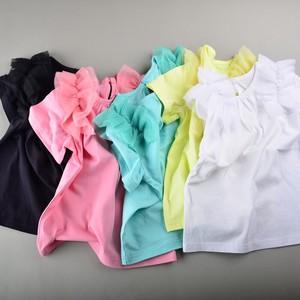 S/S Frill Attached Short Sleeve T-shirt