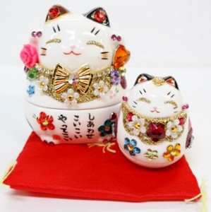 Ornament Beckoning cat Accessory Case Rising Doll Beckoning cat Beckoning cat