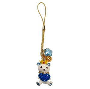 Cell Phone Charm Crown Heart bear