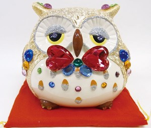 Ornament Owl Gold Bank