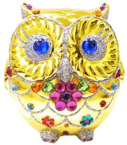 Ornament Good Luck Owl Bank Beckoning cat [ 2020NewItem ]