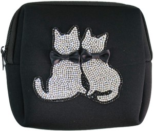 スクエアポーチ NE2-004<日本製>二匹猫ネオプレーン素材