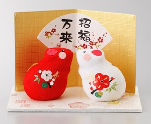 Better Fortune Zodiac Fortune Ornament Red And White Crape Decoration
