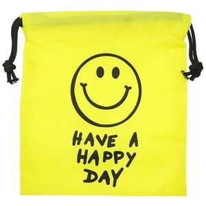 SMILE YELLOW Nylon Pouch Pouch