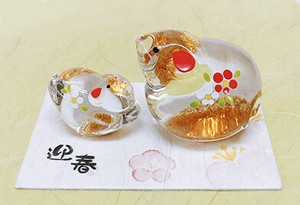 Better Fortune Zodiac Fortune Ornament Gold Decoration Glass Parent And Child Decoration