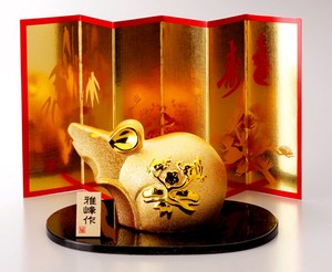 Better Fortune Zodiac Fortune Ornament Good Luck Gold Decoration Shochikubai