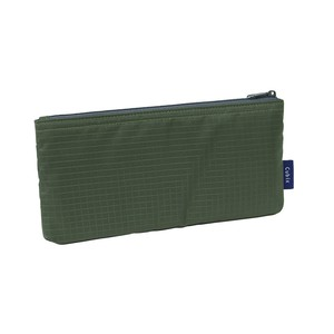 Outlet Pencil Case Nylon Flat Khaki