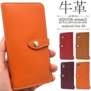 Fine Quality Smooth Cow Leather Use Android One Cow Leather Notebook Type Case