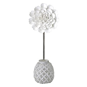 African Objects Flower White