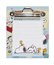 Snoopy Memo Pad Attached Binder Photo
