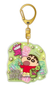 Crayon Shin Chan Layer Acrylic Key Ring Chocolate