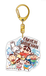 Crayon Shin Chan Layer Acrylic Key Ring Friends