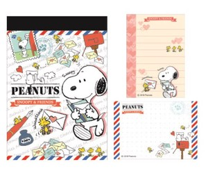 Snoopy Memo Pad Letter