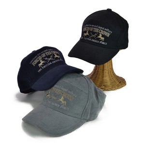 Embroidery CORDUROY Wide Cap Men's Hats & Cap