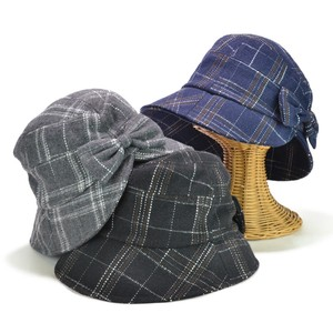 Checkered Ribbon Crochet Ladies Hats & Cap