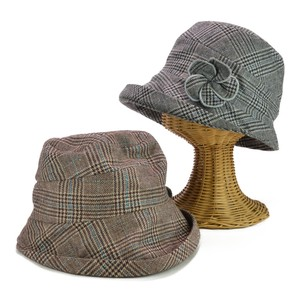 Corsage Checkered Edge Crochet Ladies Hats & Cap