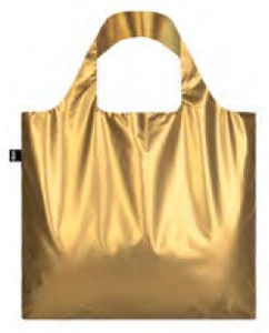 LOQI(ローキー)エコバッグ メタリックゴールド