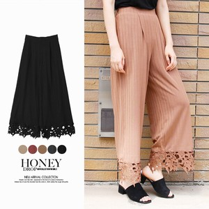 [2019NewItem] Wide Teleko Lace wide pants