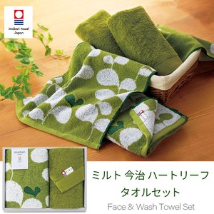 Towel Imabari Heart Leaf Face Towel Gift Set