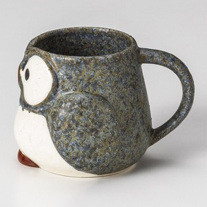 Gray Owl Mug Full Water