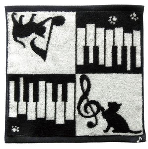 IMABARI TOWEL Handkerchief cat Piano