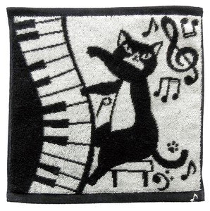 IMABARI TOWEL Handkerchief cat Teacher Musical Note