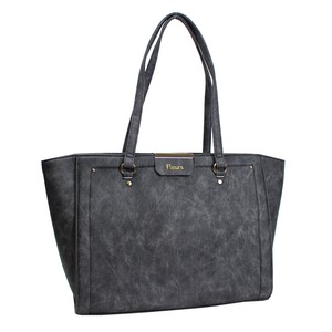Denim Synthetic Leather Tote Bag