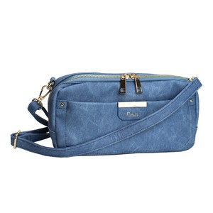 Denim Synthetic Leather Shoulder Bag