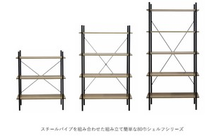 Steel Pipe Matching Assembly Easy Shelf Series Assembly Furniture Joy