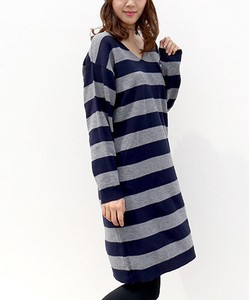Adult Women Border Knitted One-piece Dress
