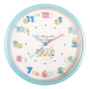 Sumikko gurashi Icon Wall Clock Soft Toy Blue