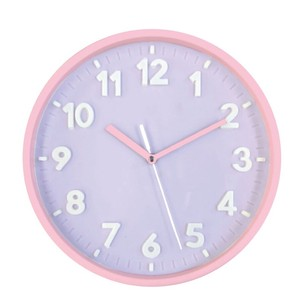 Pastel Index Wall Clock Purple