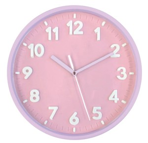 Pastel Index Wall Clock Pink