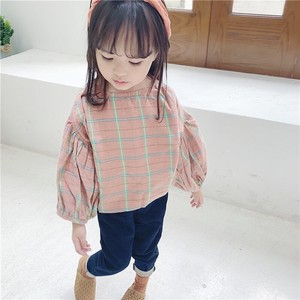 Children's Clothing Top Leisurely Checkered Kids Casual Korea