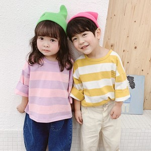 Children's Clothing Top Border Long Sleeve Shirt Kids Casual Korea