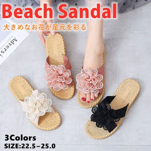 Ladies Flip Flop Slip Flower Slipper Flat Flower Beautiful Legs