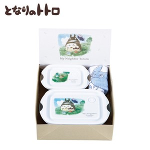 My Neighbor Totoro Microwave Oven Food Container 3-unit Set Watercolor
