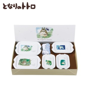 My Neighbor Totoro Microwave Oven Food Container 6 Pcs Set Watercolor Gift Set